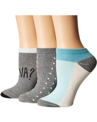 Kate Spade | 3-pack Frenchie No Show Socks | Lyst