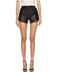 The Kooples | Leather Shorts With Button Details | Lyst