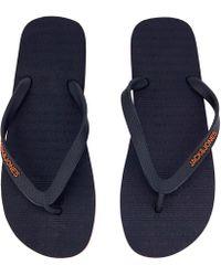 Jack & Jones - Plain Flip Flops - Lyst