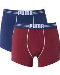 PUMA | 2 Pack Athletic Blocking Boxers | Lyst