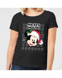 8fd8ca8cd Uniqlo Women Love & Mickey Mouse Collection Graphic T-shirt in Black ...