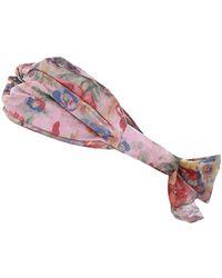 Zimmermann - Printed Turban Headscarf - Lyst