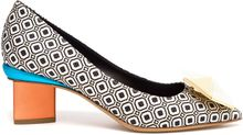 Nicholas Kirkwood Geometric Fabric Pumps with Block Heel - Lyst