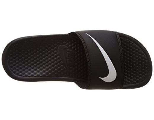 competitive price 00db6 6a608 Nike Benassi Swoosh Low-top Slippers, (black/white), 9 Uk 44 ...