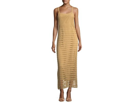 f0f85c8be Elizabeth and James Edna Hand-crochet Long Sleeveless Dress in Brown - Save  40% - Lyst
