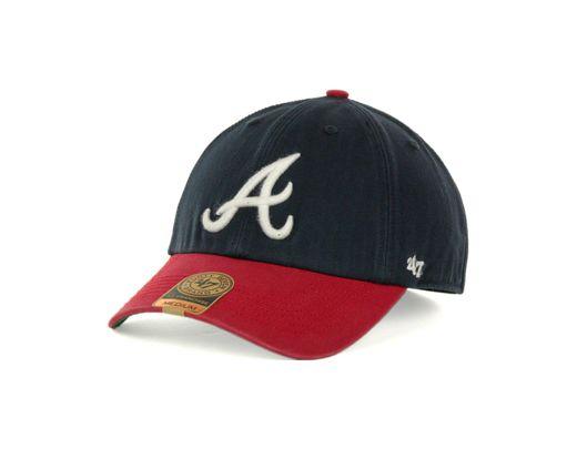 Kleidung & Accessoires Weitere Ballsportarten Original 47 Brand Relaxed Fit Cap Mvp Atlanta Braves Navy