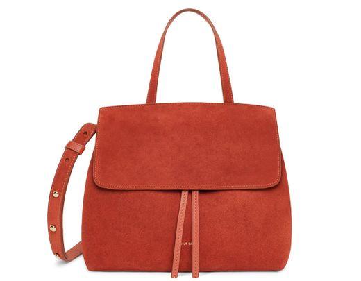 974e769c178 Mansur Gavriel Suede Mini Lady Bag - Brick in Red - Lyst