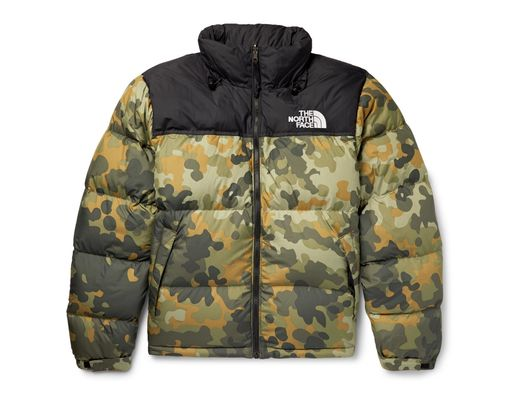 90f5e519ae3ae The North Face 1996 Retro Nuptse Quilted Camouflage-print Shell Down Jacket  in Green for Men - Lyst