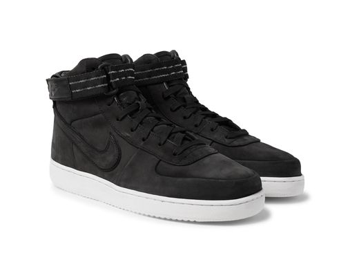 quality design 63587 d31d0 Nike Vandal High Supreme Qs Leather-trimmed Suede High-top Sneakers in  Black for Men - Lyst