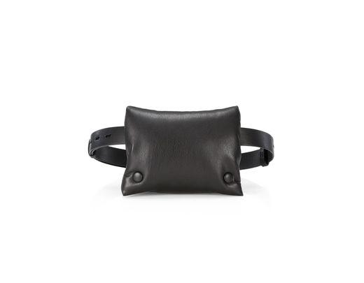 0ed8d4225 Nanushka Tao Vegan Leather Puffer Belt Bag in Black - Lyst