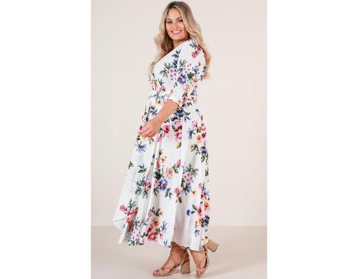 a25d84d774 Lyst - Showpo Retro Romance Maxi Dress in White - Save 66%