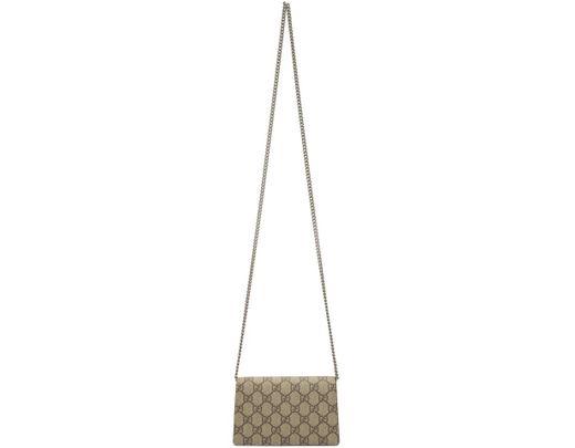 58e190356 Gucci Beige GG Supreme Super Mini Dionysus Bag in Brown - Lyst