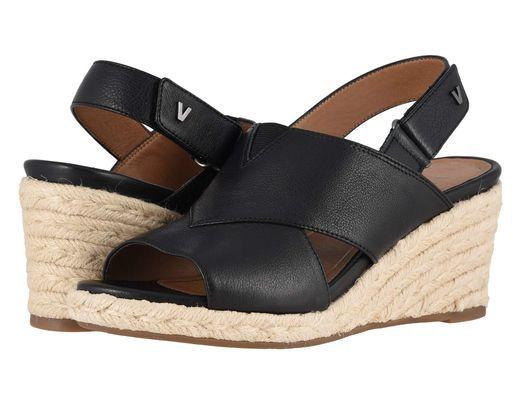 826f419aae5 Black Women's Zamar Slingback Platform Wedge Espadrille Sandals
