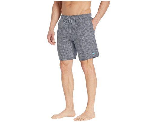 120e27b36f Lyst - Ted Baker Alantic Geo Print Midi Swim Shorts (navy) Men's Swimwear  in Blue for Men