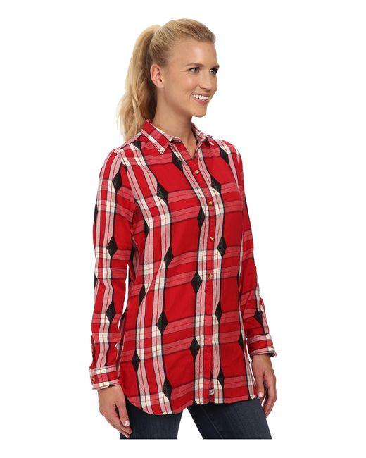 Woolrich   Red First Light Jacquard Shirt   Lyst