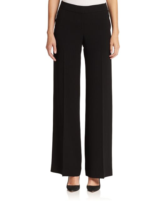 Lafayette 148 New York | Black Wide-leg Pants | Lyst