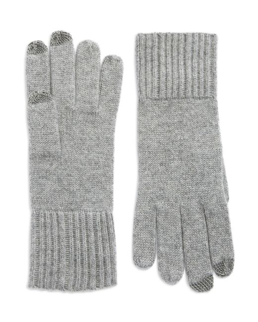 Lord & Taylor | Gray Cashmere Tech Gloves | Lyst