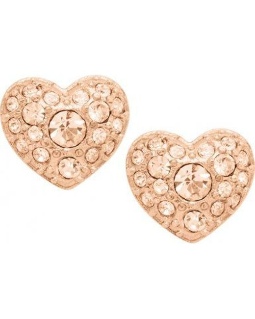 Fossil | Pink Jf01151791 Womens Earrings | Lyst