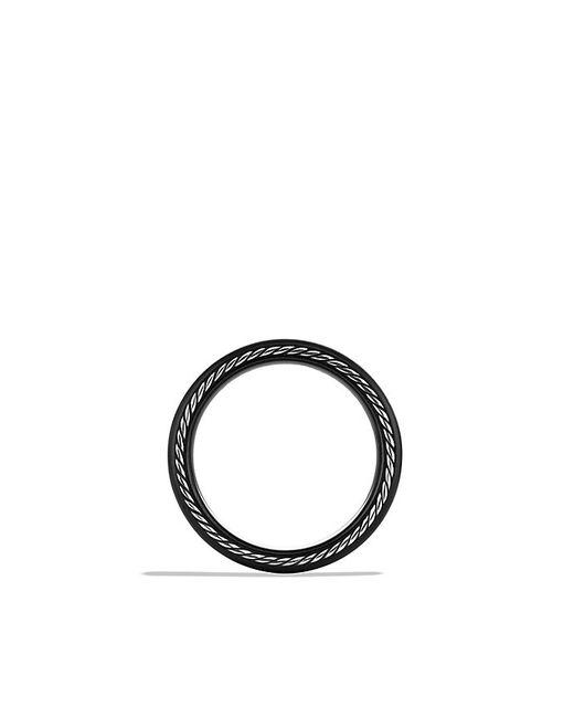 David Yurman | Black Streamline Narrow Band Ring for Men | Lyst
