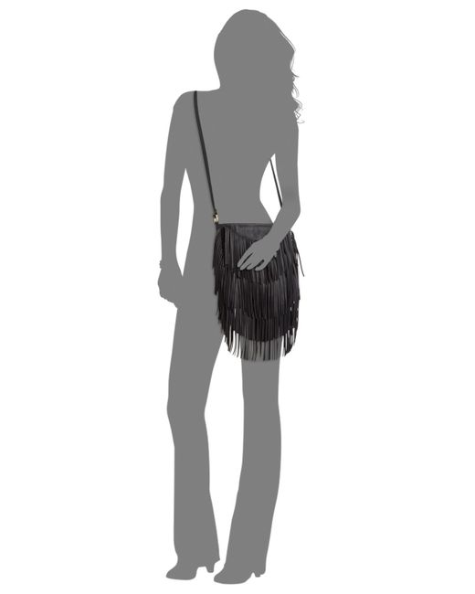 INC International Concepts | Black Fringe Crossbody | Lyst