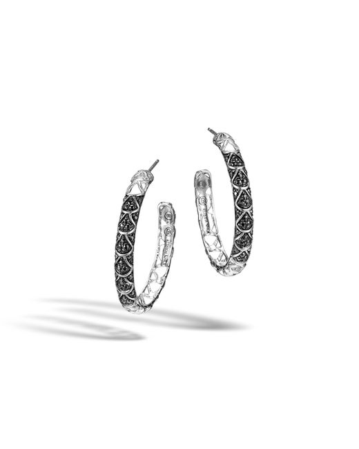 John Hardy   Metallic Naga Medium Hoop Earring With Black Sapphire   Lyst