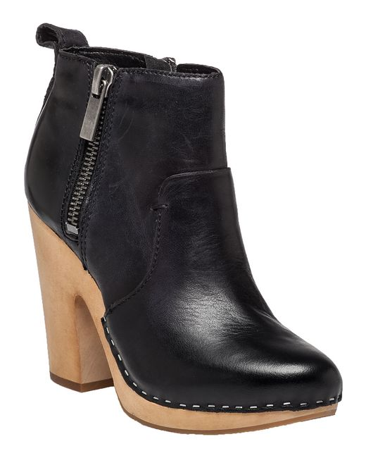 dolce vita arlynn leather ankle boots in black black
