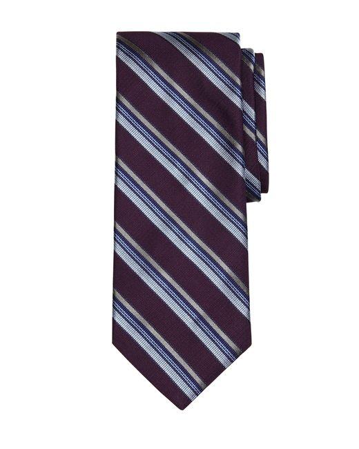 Brooks Brothers | Purple Triple Stripe Tie for Men | Lyst