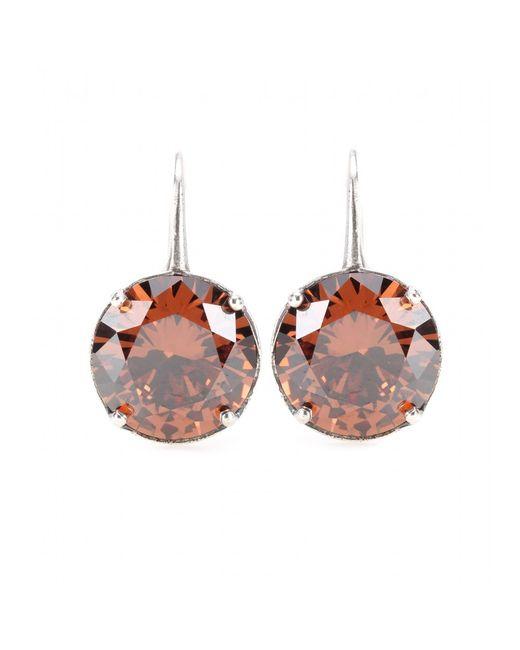 Bottega Veneta   Metallic Crystal-embellished Silver Earrings   Lyst