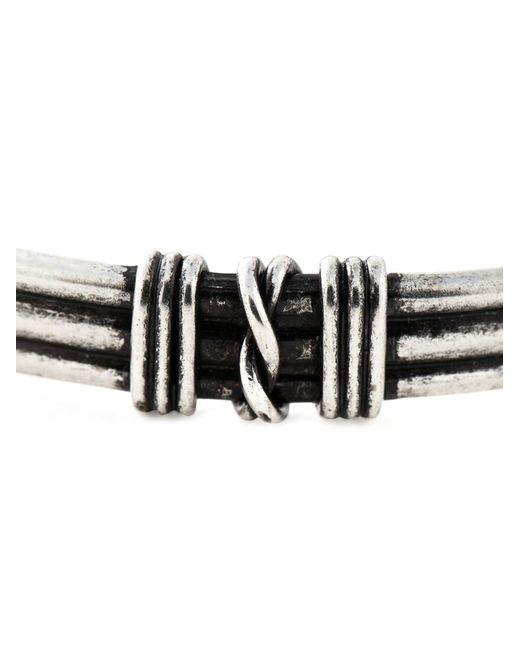 Saint Laurent   Black Knot Detail Bracelet   Lyst