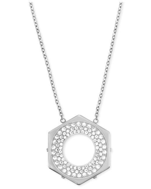 Swarovski   Metallic Bolt Crystal Pavé Pendant Necklace   Lyst