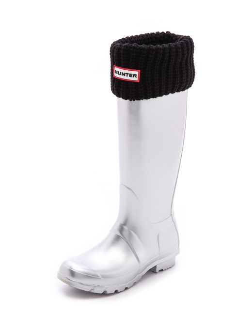Hunter | Black Half Cardigan Boot Socks | Lyst