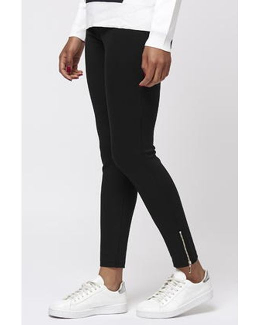 TOPSHOP | Black Ponte Ankle Grazer Pants | Lyst
