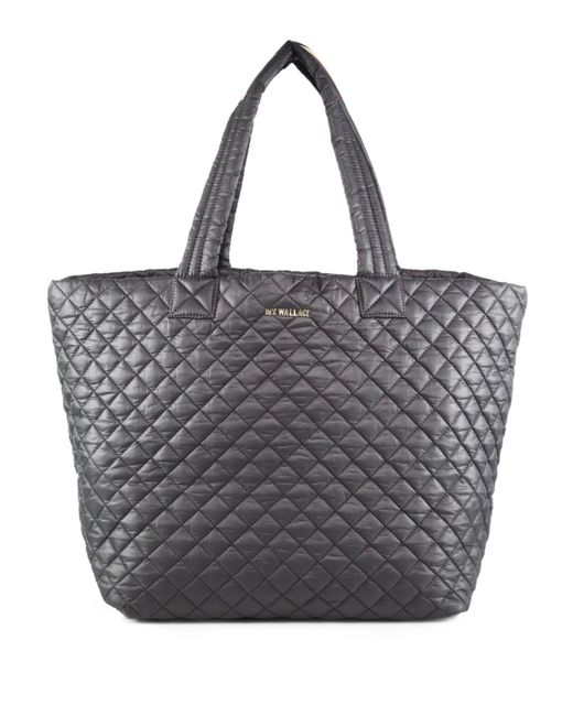 MZ Wallace | Gray Metro Large Quilted Nylon Tote | Lyst