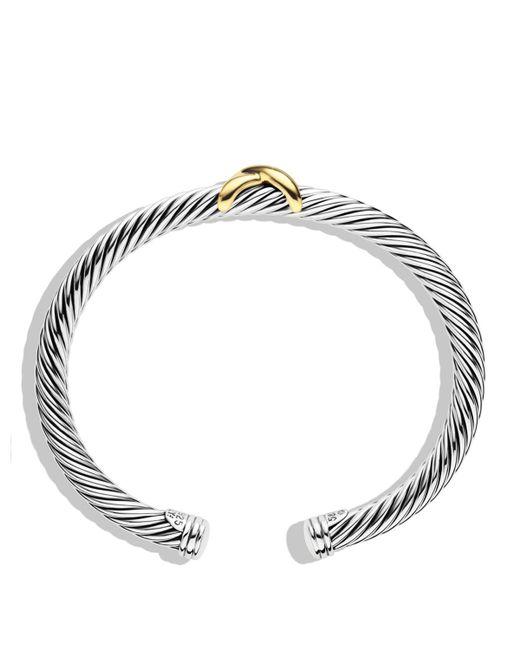 David Yurman | Metallic X Bracelet With Gold | Lyst