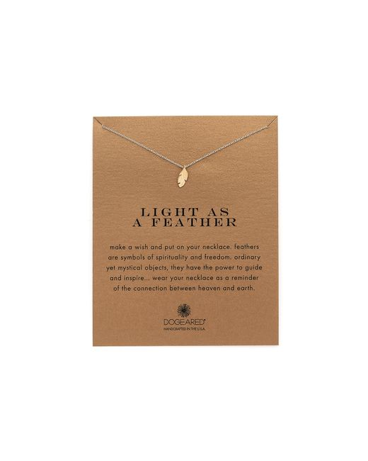 Dogeared | Metallic Light As A Feather Charm Necklace | Lyst