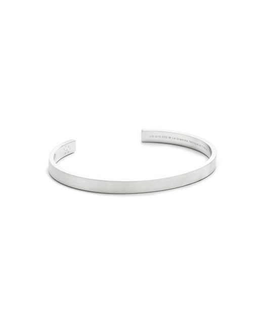 Le Gramme | Metallic Le 15 Grammes Brushed Silver Cuff for Men | Lyst
