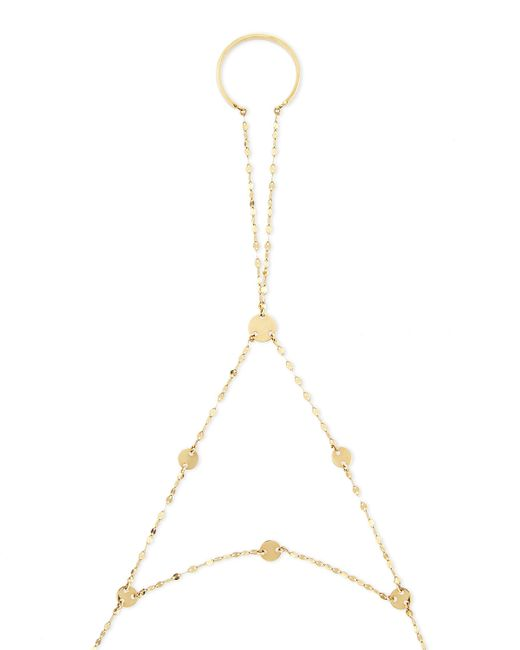 Lana Jewelry | Metallic 14-karat Yellow Gold Disc Lariat Hand Chain | Lyst