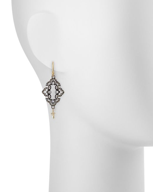 Armenta | Metallic Open Scroll Diamond Drop Earrings | Lyst