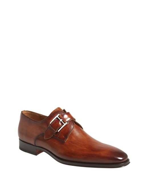 Saks Fifth Avenue | Brown 'marco' Monk Strap Loafer for Men | Lyst