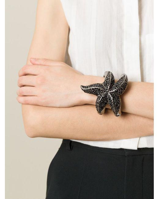 Roberto Cavalli | Black Embellished Sea Star Bracelet | Lyst