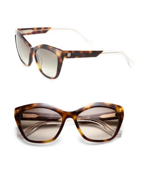 4fb7007251 Balenciaga 56mm Acetate Cat  39 s-eye Sunglasses in Black