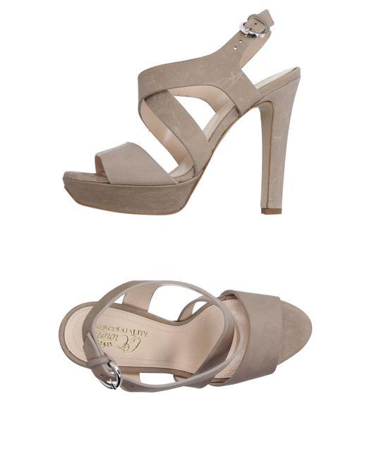 Lecrown | Gray Sandals | Lyst