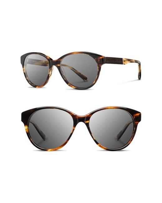 Shwood | Black 'madison' 54mm Round Sunglasses | Lyst
