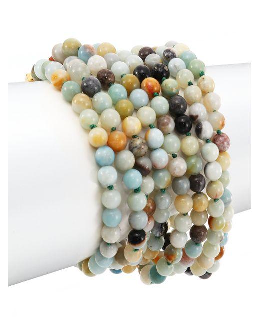 Kenneth Jay Lane | Multicolor Beaded Eight-row Bracelet | Lyst