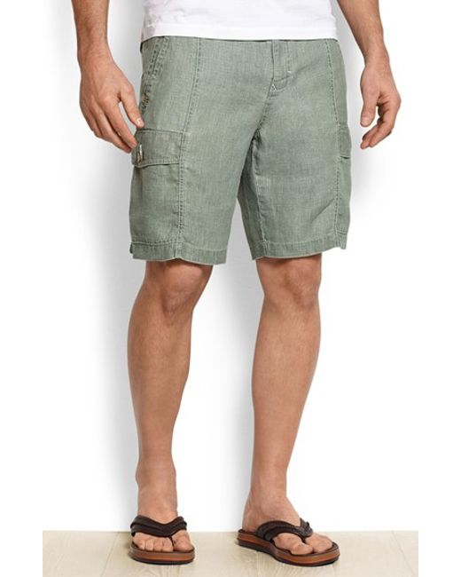 Tommy Bahama | Green 'summerland Keys' Washed Linen Shorts for Men | Lyst