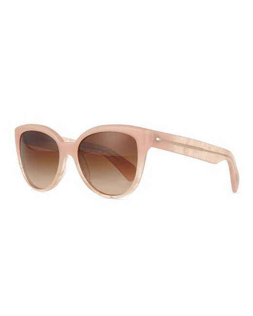 Oliver Peoples | Pink Abrie Plastic Cat-eye Sunglasses | Lyst