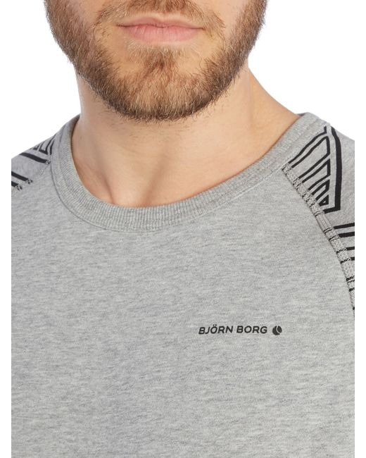 Björn Borg | Gray Hooded Logo Jumper for Men | Lyst