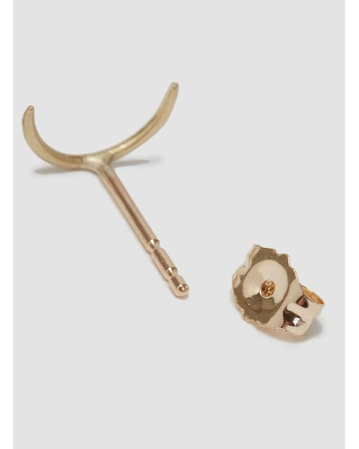 Wwake   Metallic Simple Arc Earrings Gold   Lyst