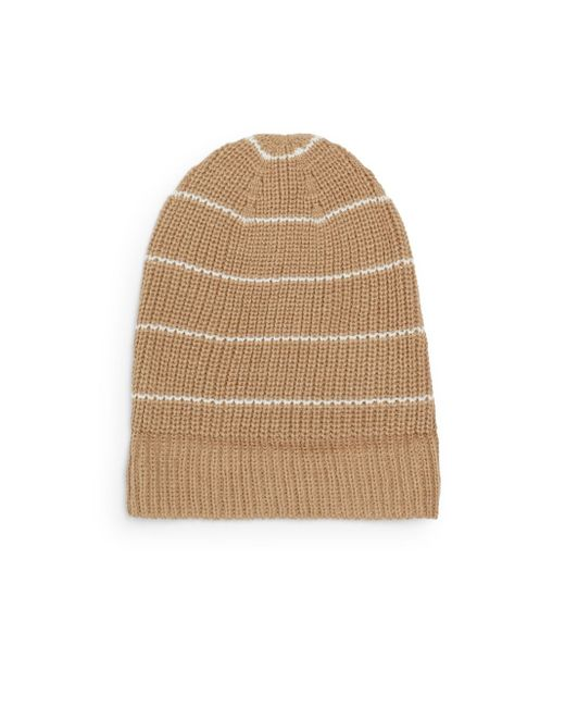 Vince Camuto   Natural Thermal Striped Hat   Lyst
