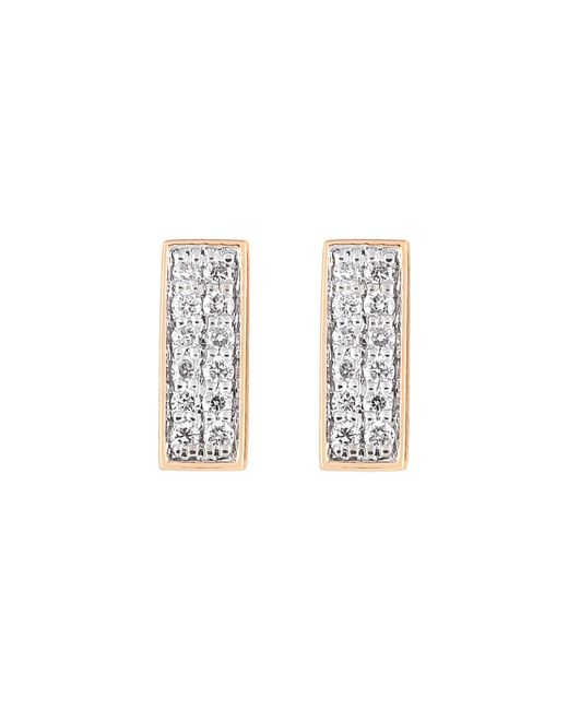 Ginette NY | Metallic Diamond Baguette Stud Earrings | Lyst